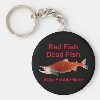 Porte-clés Après saumon - arrêtez le mien de caillou
