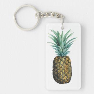 Porte-clés Aquarelle tropicale d'ananas