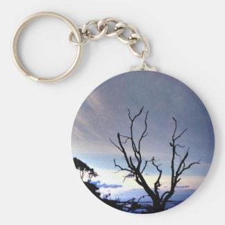 Porte-clés Arbre solitaire sur le rivage