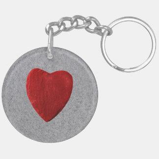 Porte-clés Arrière-plan d'ardoise coeur