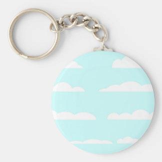 Porte-clés Arrière - plan de cieux bleus