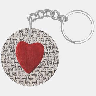 Porte-clés Arrière-plan de matière coeur