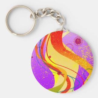 Porte-clés Arrière - plan de tache de jazz