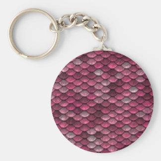 Porte-clés Arrière - plan rose de peau de serpent