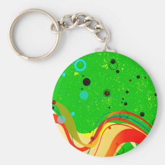 Porte-clés Arrière - plan vert de jazz