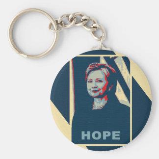 Porte-clés Art de bruit d'espoir de Hillary Clinton