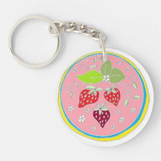 Porte-clés Art de sortilège de fraise par EelKat - rose