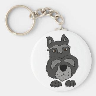 Porte-clés Art mignon drôle de chien de Schnauzer