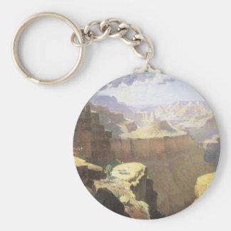 Porte-clés Art occidental américain vintage, canyon grand par