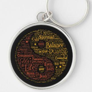 Porte-clés Art spirituel de mot de Yin Yang
