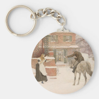 Porte-clés Art victorien vintage, saluant le facteur par
