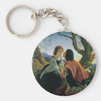Porte-clés Art vintage, amants au crépuscule, monsieur Joseph