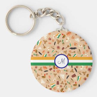 Porte-clés Articles culturels indiens avec le drapeau et le