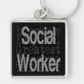 Porte-clés Assistant social Extraordinaire