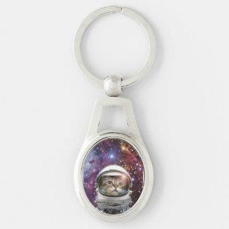 Porte-clés Astronaute de chat - chat fou - chat