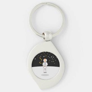 Porte-clés Astronaute drôle Weeing à l'apesanteur sur la lune