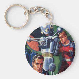 Porte-clés Astronautes vintages de la science-fiction fixant