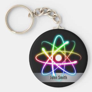 Porte-clés Atome rougeoyant coloré de Personalizable