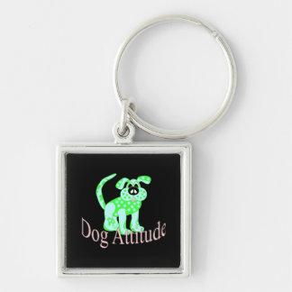Porte-clés Attitude de chien