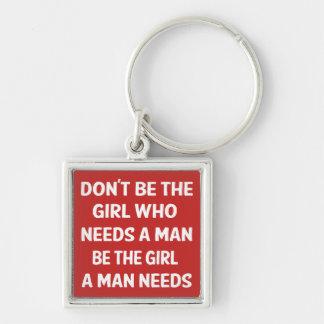 Porte-clés Attitude, puissance de fille, le féminisme, rouge