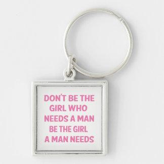 Porte-clés Attitude, puissance rose de fille, le féminisme,