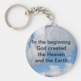 Porte-clés Au début Dieu créé…. Nuage