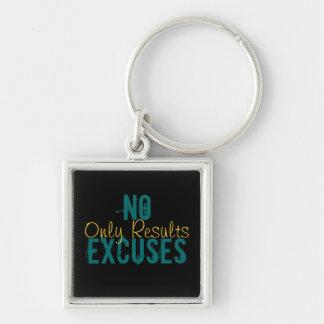 Porte-clés AUCUN porte - clé de résultats d'excuses seulement