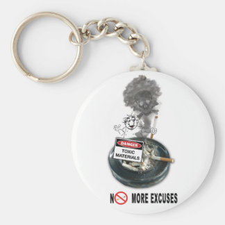 Porte-clés AUCUN tabagisme d'arrêt d'EXCUSES