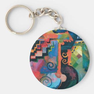 Porte-clés Auguste Macke - hommage à l'art moderne abstrait