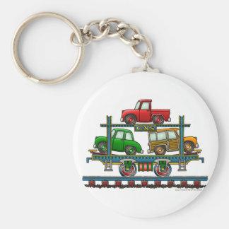 Porte - clés automatiques de chemin de fer de voit porte-clé rond