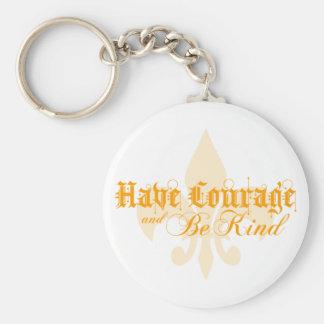 Porte-clés Ayez le courage et soyez - Fleur-De-Lis - orange