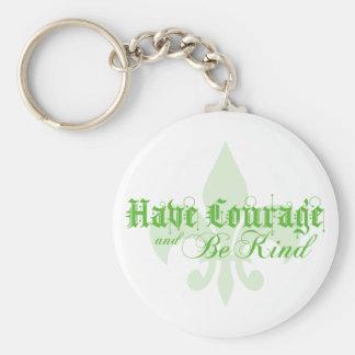 Porte-clés Ayez le courage et soyez - Fleur-De-Lis - vert