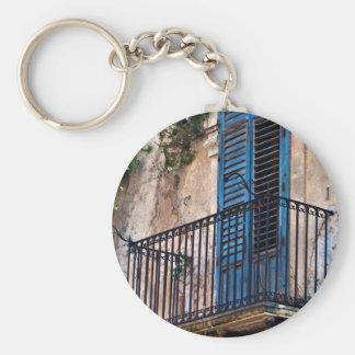 Porte-clés Balcon bleu dans Sicile