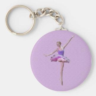 Porte-clés Ballerine dans le porte - clé rose et pourpre