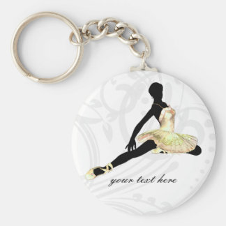 Porte-clés ballerine d'une manière élégante habillée en