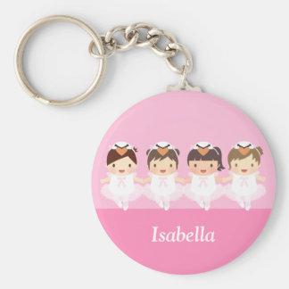 Porte-clés Ballerine mignonne de ballet de cygne pour des