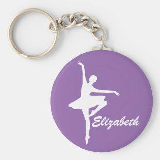 Porte-clés Ballerine pourpre faite sur commande