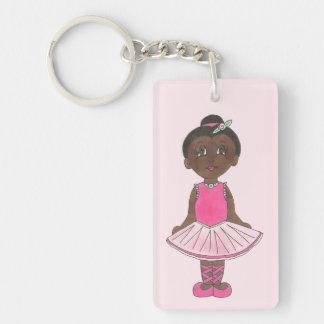 Porte-clés Ballerine rose de costume de considérant de danse