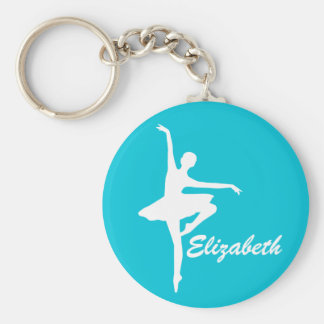 Porte-clés Ballerine turquoise faite sur commande de