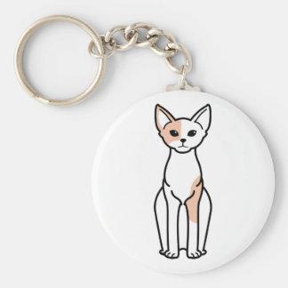 Porte-clés Bande dessinée de chat de Devon Rex