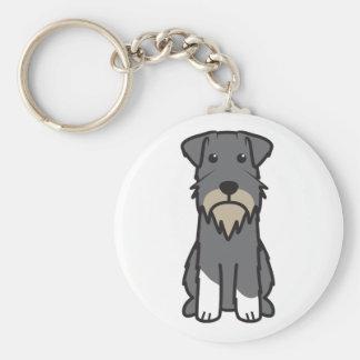 Porte-clés Bande dessinée de chien de Schnauzer miniature