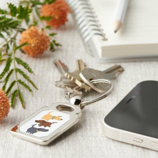 Porte-clés Bande dessinée Labradors dans le porte - clé en