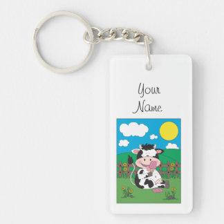 Porte-clés Bande dessinée mignonne de vache