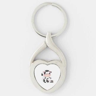 Porte-clés Bande dessinée mignonne de vache à bébé