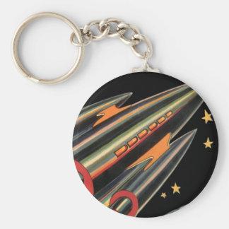 Porte-clés Bateau vintage de Rocket de la science-fiction par