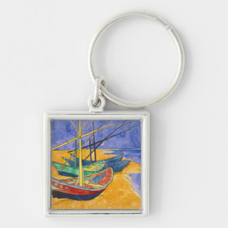 Porte-clés Bateaux de pêche de Vincent van Gogh   sur la