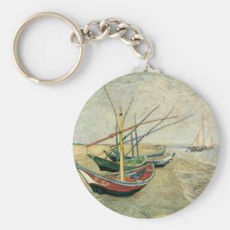 Porte-clés Bateaux de pêche sur la plage par Vincent van Gogh