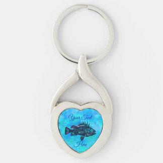 Porte-clés Bleu de goujon de mer de Quillback - porte - clé