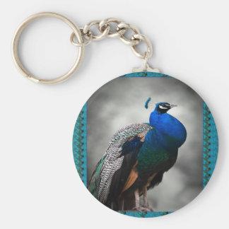 Porte-clés Bleu de paon