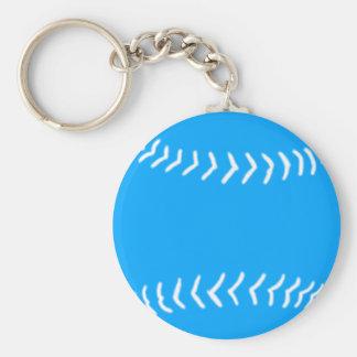 Porte-clés Bleu de porte - clé de silhouette du base-ball